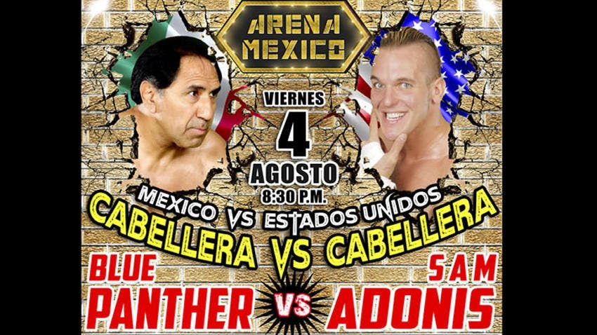 Blue Panther vs Sam Adonis en Arena México