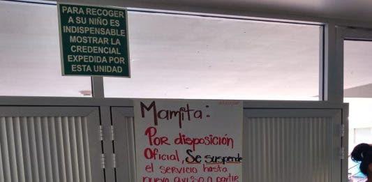 Este miércoles también se anunció la suspensión del servicio de las guarderías y de los clubes de personas mayores, del Ayuntamiento Benito Juárez.