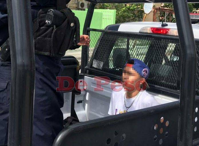 detenido- muchacho- robo- carro-cancún