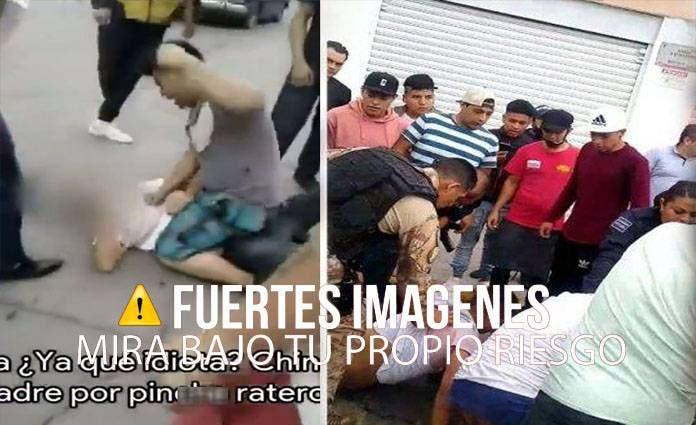 Se trata de cinco hombres, quienes ingresaron a robar un local de joyería que se encuentra ubicado dentro del Mercado Municipal de Cuautitlán.