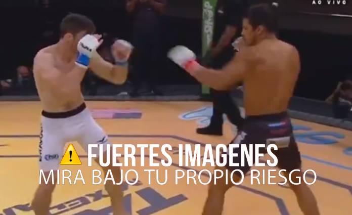 Después de que Campbell comenzará a sangrar, el referee paro la pelea para revisarlo y darle la victoria al peleador amazónico.