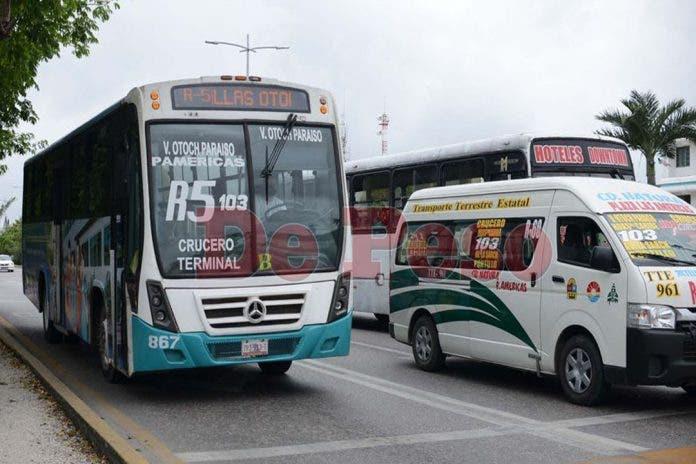 Sobrecupo provoca multas en transporte público de Cancún