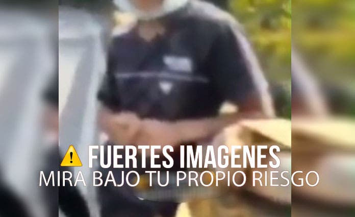 Hombres arrojan a joven desde un puente y graban todo (Video)