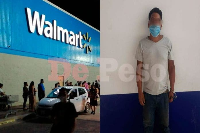 Waltmart pelea Hombre Cancún