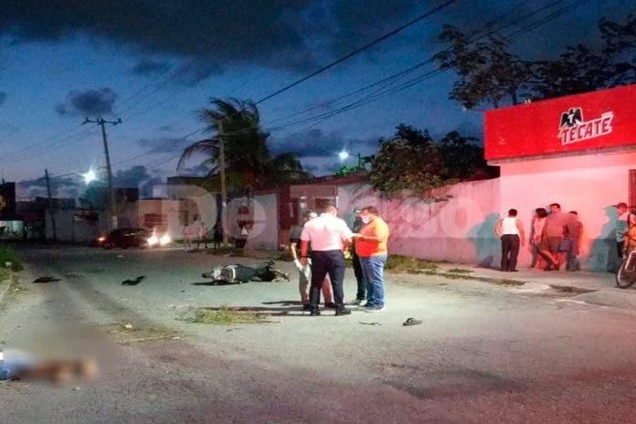 Motociclista pierda la vida tras derrapar en fraccionamiento de Cancún