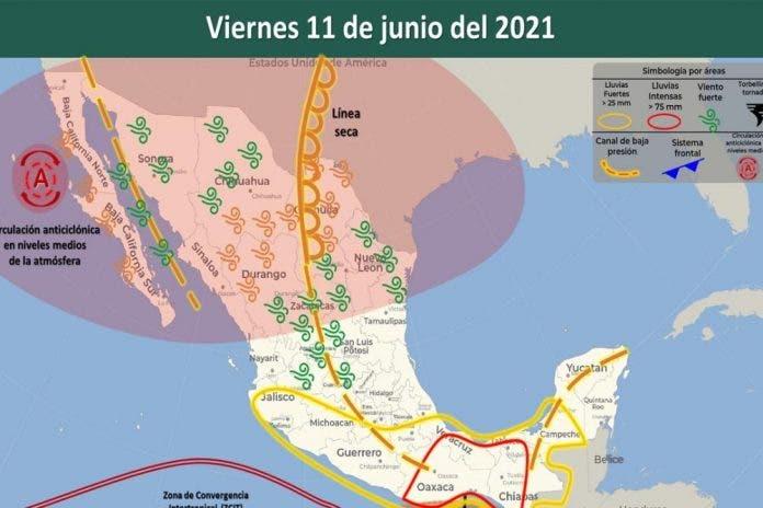 Clima 11 de junio del 2021