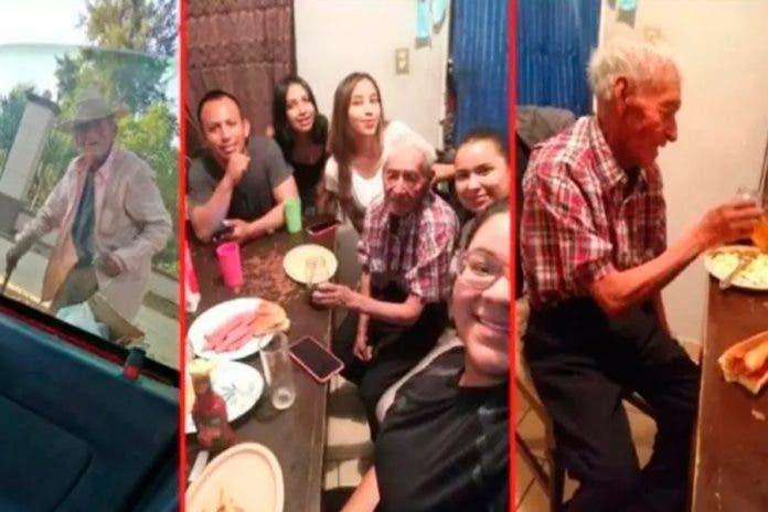 Familia adopta abuelito