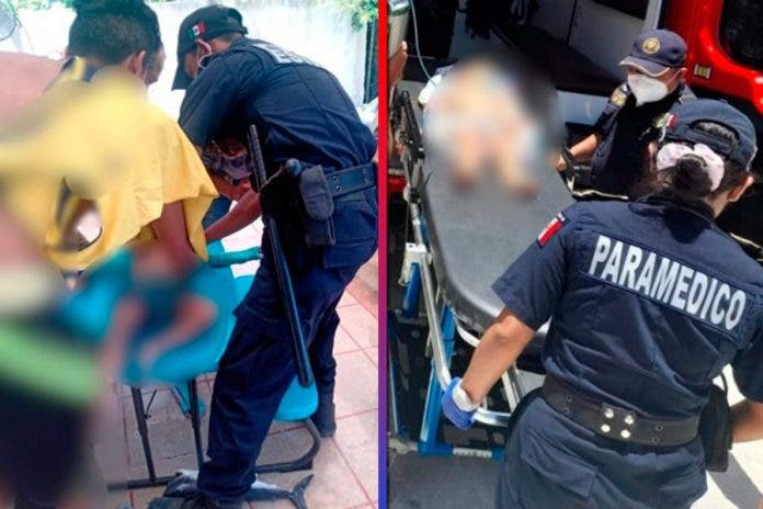 policías niño ahogado