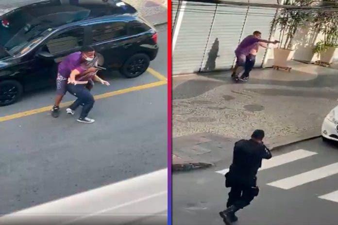 Policías abaten ladrón rehén