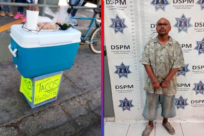 mata vendedora tacos asalto