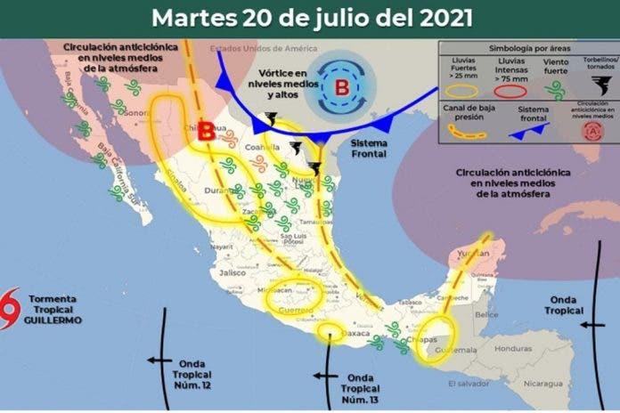 Clima 20 de julio del 2021