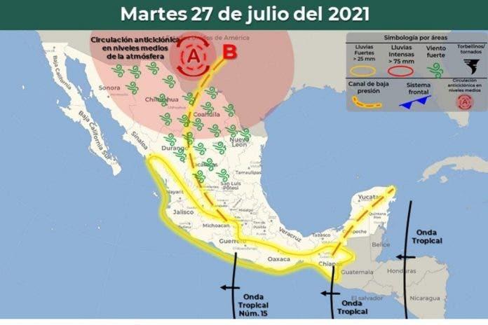 Clima 27 de julio del 2021