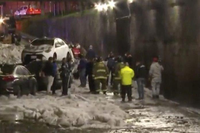 Hombre muere congelado en una tormenta de granizo en CDMX