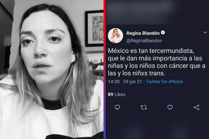 Regina Blandón desmiente tweet contra lo niños con cáncer