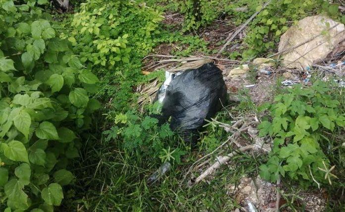 Descubren bolsa con pruebas covid usadas en Calderitas