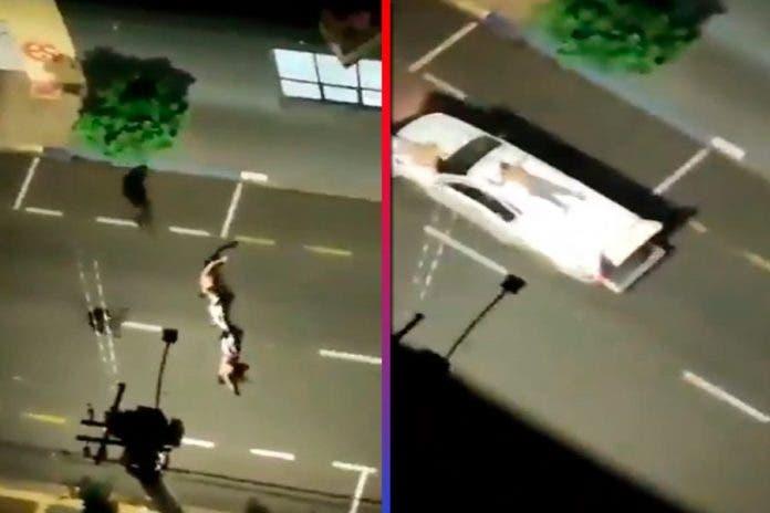 Ladrones usan a rehenes como escudos humanos para escapar