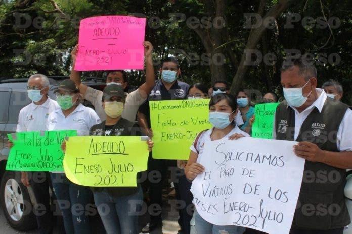 Personal de la Caravanas de Salud se manifiesta ante Gobernador Carlos Joaquin