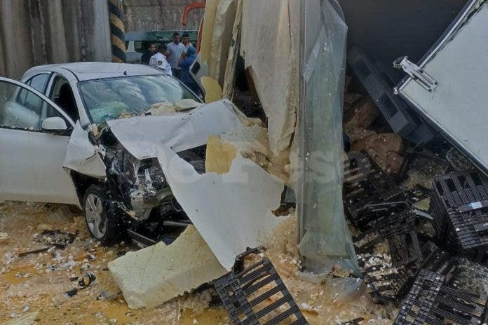 Así sucedió el accidente vehicular