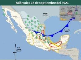 Clima 22 de septiembre del 2021