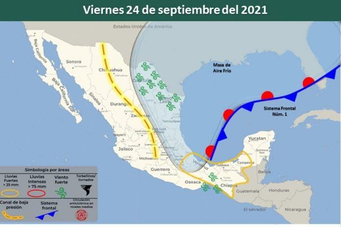 Clima 24 de septiembre del 2021