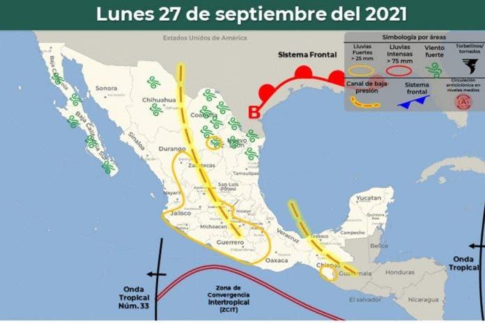 Clima 27 de septiembre del 2021