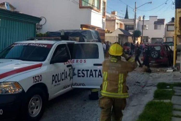 Explota regalo bomba ahora en una colonia de Puebla