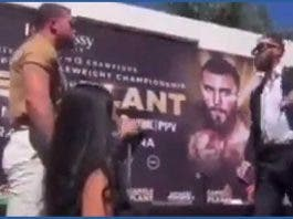 Canelo Álvarez y Caleb Plant llegan a los golpes en rueda de prensa