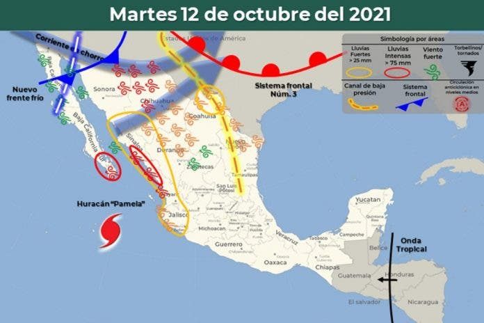 Clima 12 de octubre del 2021