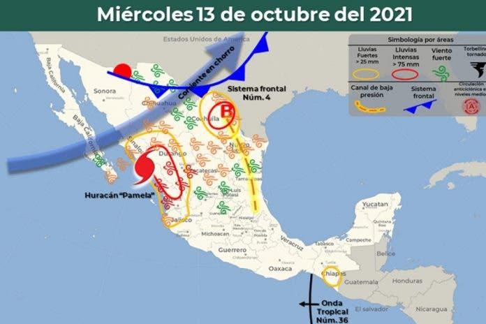 Clima 13 de octubre del 2021