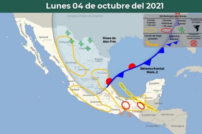 Clima 4 de octubre del 2021