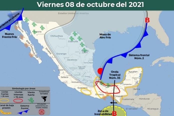 Clima 8 de octubre del 2021