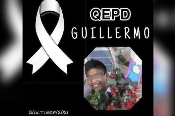 Guillermo de 14 años murió